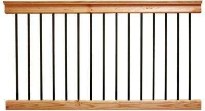 Wood Deck Railings Decking The Home Depot | Home Depot Deck Handrail | Stairs | Face Mount | Aluminum Balusters | Cable Railing Kit | Southern Yellow Pine