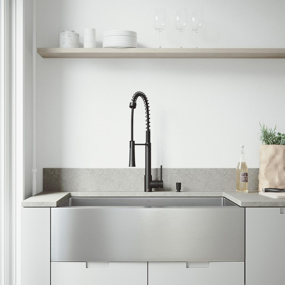 vigo all in one farmhouse stainless steel 36 in single on kitchens with farmhouse sinks id=59671
