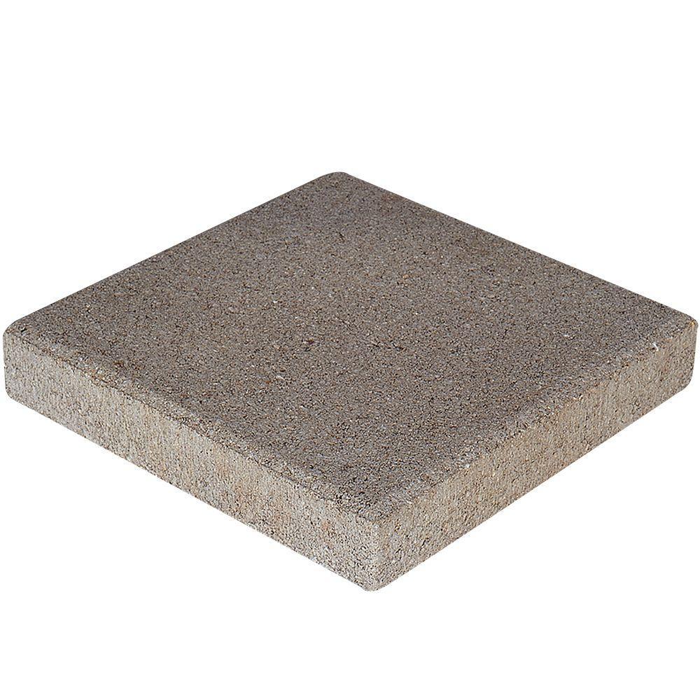 pewter square concrete step stone