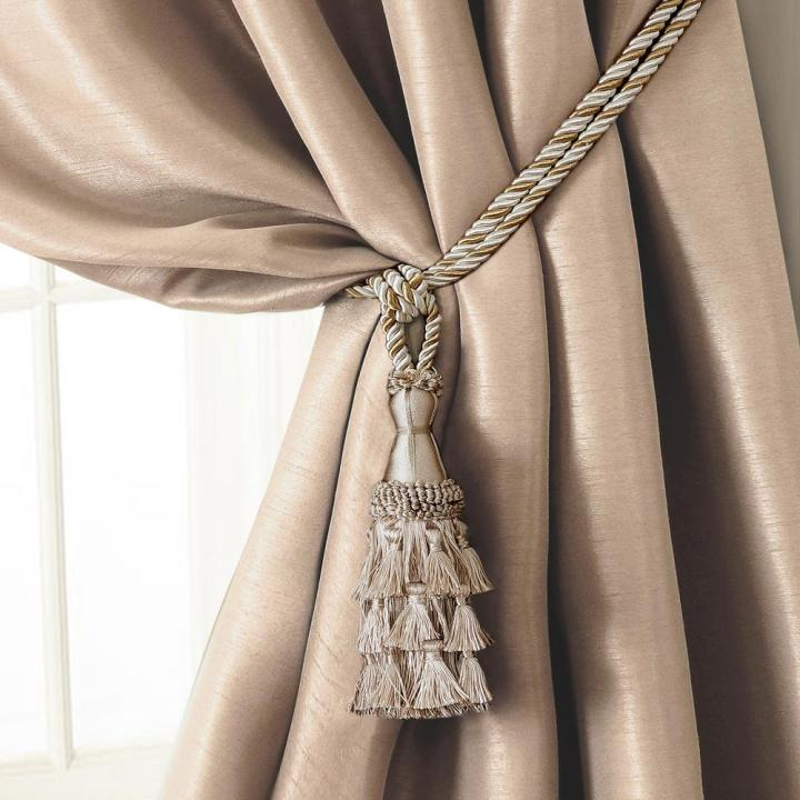 Tassel Tieback Rope Cord Window Curtain Accessories In Ivory