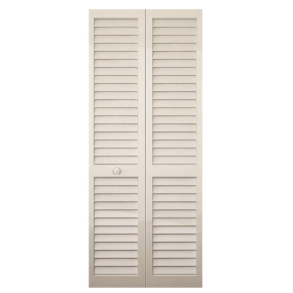 bay 32 in x 80 in white louver solid wood Bay 32 In X 80 In 32 In Clear 6 Panel Solid id=57163