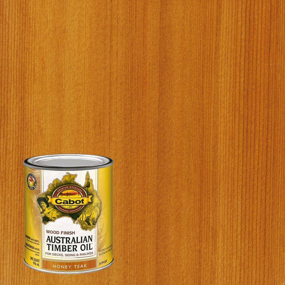 Cabot 1 Qt Honey Teak Australian Timber Oil Exterior Wood