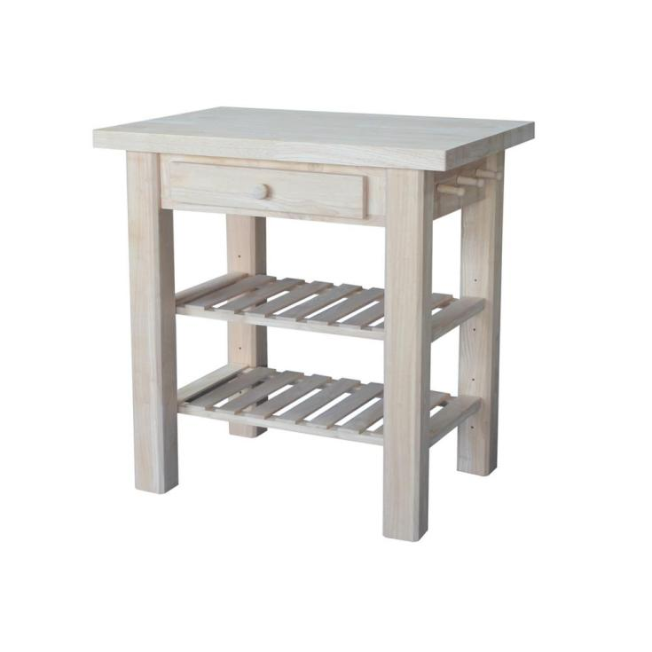 unfinished wood - carts, islands & utility tables - kitchen - the