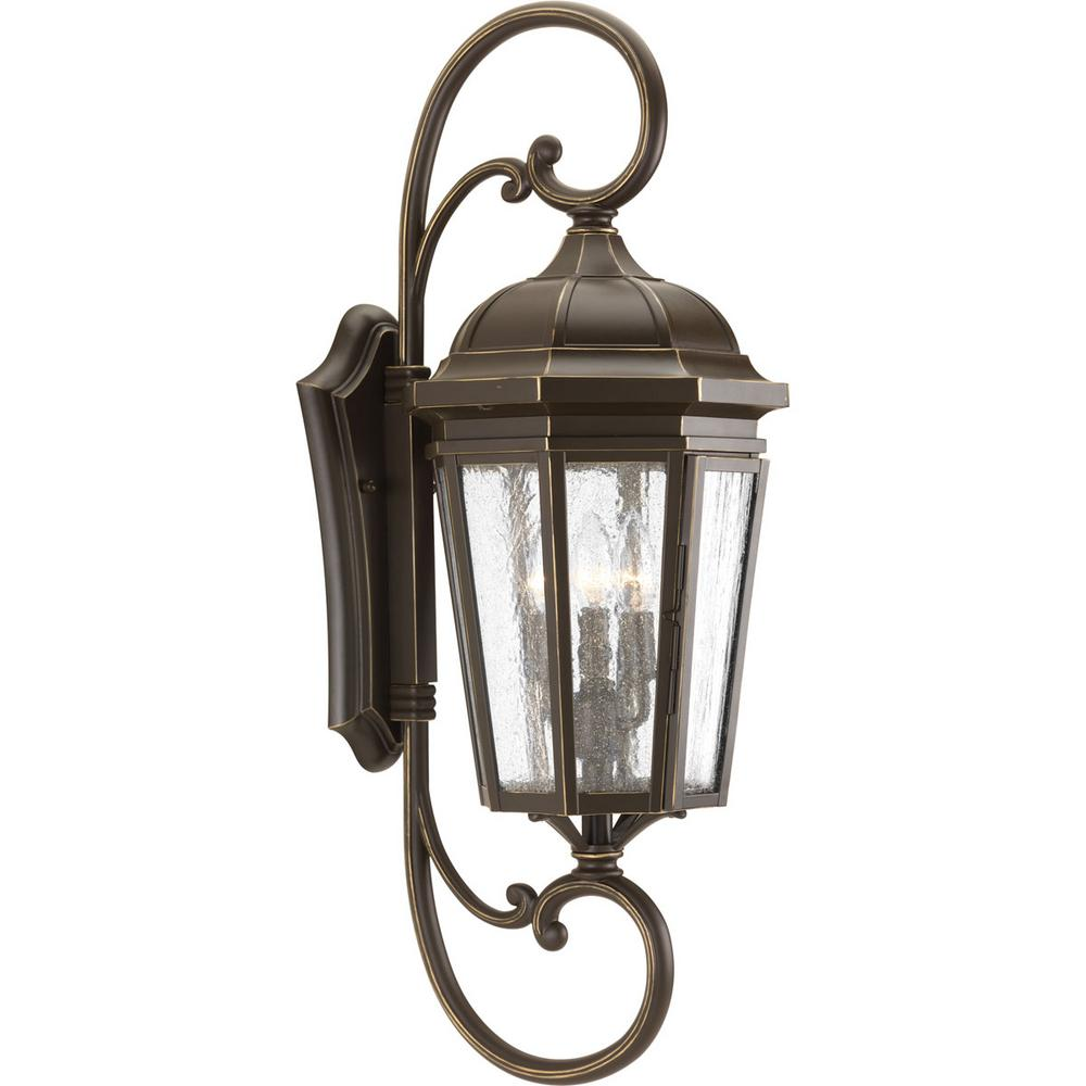 Progress Lighting Verdae Collection 3-Light 30.5 in ... on Sconce Outdoor Lighting id=66288