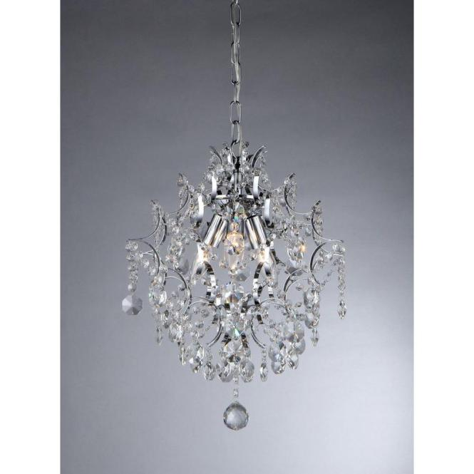 Warehouse Of Tiffany Ellaisse 3 Light Chrome Crystal Chandelier Rl9688 The Home Depot