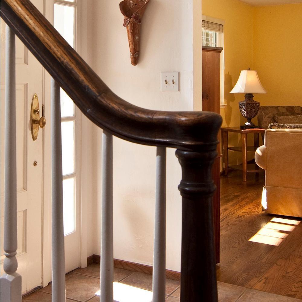 Stair Parts 7010 Unfinished Poplar Starting Easing Stair Handrail | Poplar Stair Treads Home Depot | Newel Cap | 000 0000L | Quarter Turn | Baluster | Rosette