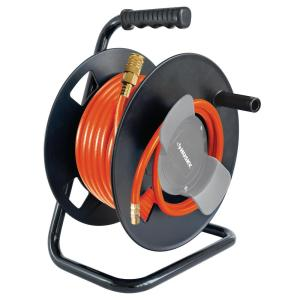 Husky Manual Hose Reel 14 In X 50 Ft PVC Air Hose AHR 0910 The Home Depot