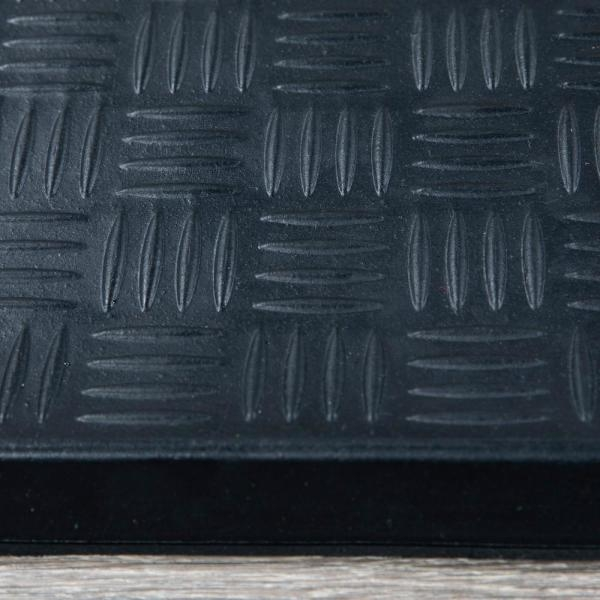 Ottomanson Dirt Off Black Square Nosed 18 In X 30 In Rubber | Outdoor Stair Treads Home Depot | Anti Slip Stair | Rugs | Non Slip | Tread Covers | Pressure Treated