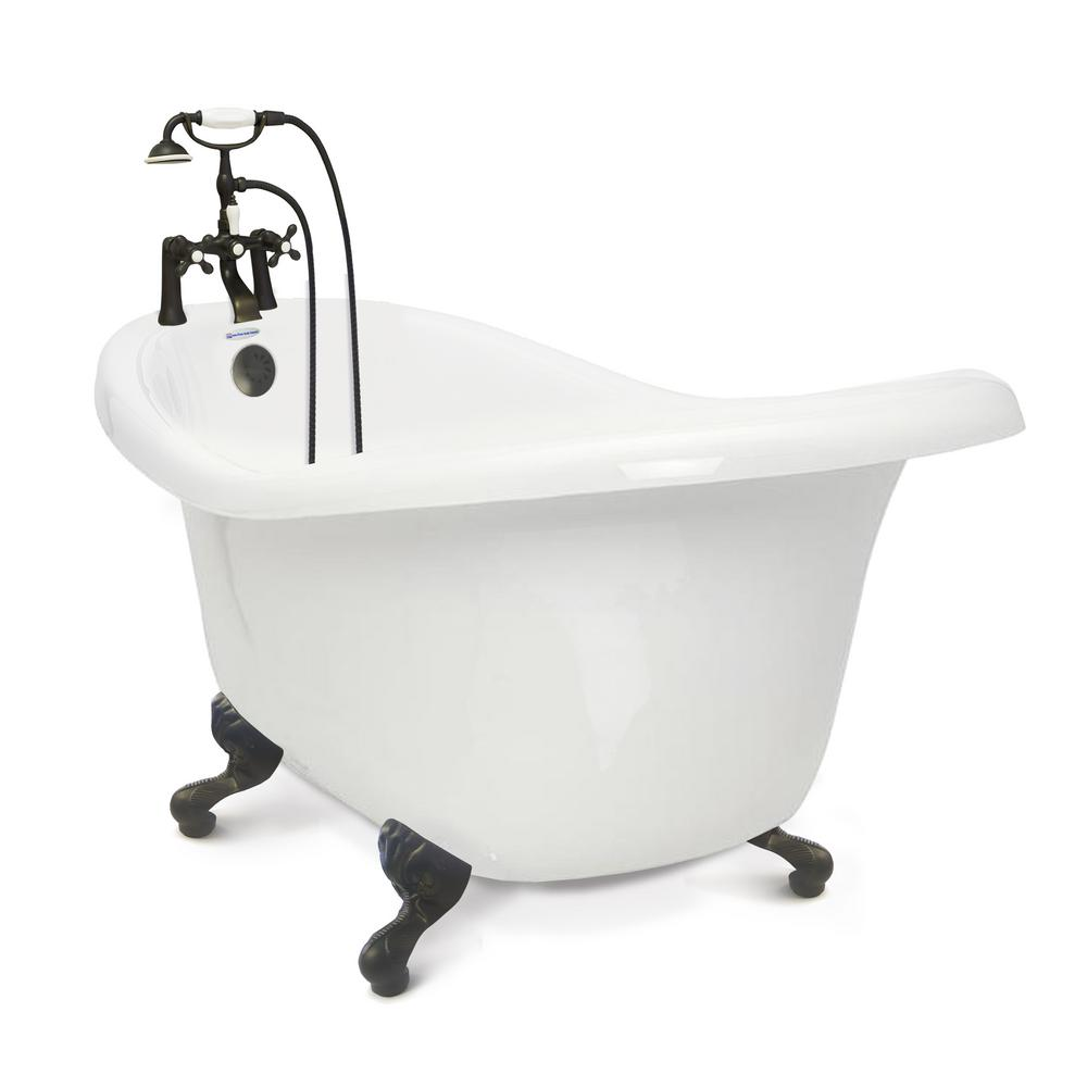 American Bath Factory Chelsea 60 In Acrylic Slipper