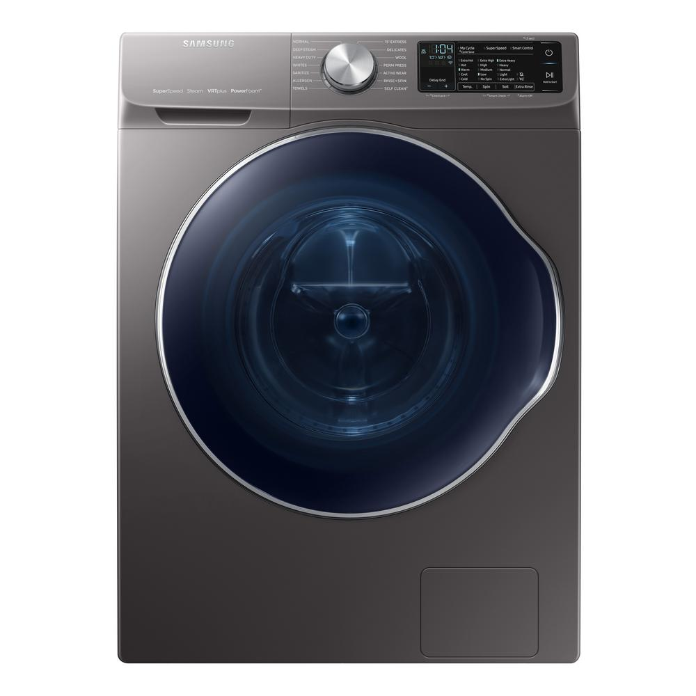 Samsung 2 2 Cu Ft Capacity Front Load Washer With Steam
