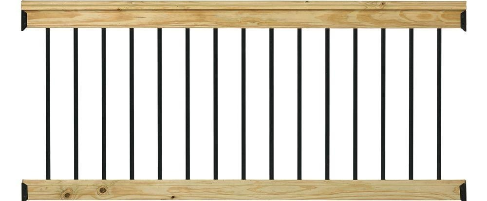 Deckorail Pressure Treated 6 Ft Aluminum Southern Yellow Pine | Home Depot Handrails For Outdoor Steps | Wrought Iron Stair | Pressure Treated | Porch Railings | Metal | Railing Ideas