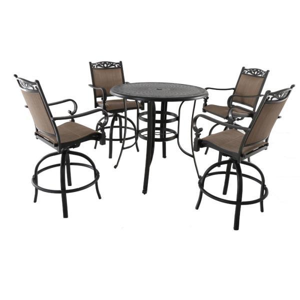 5 piece outdoor patio bar set Royal Garden Tuscan Estate 5-Piece Aluminum Outdoor Bar