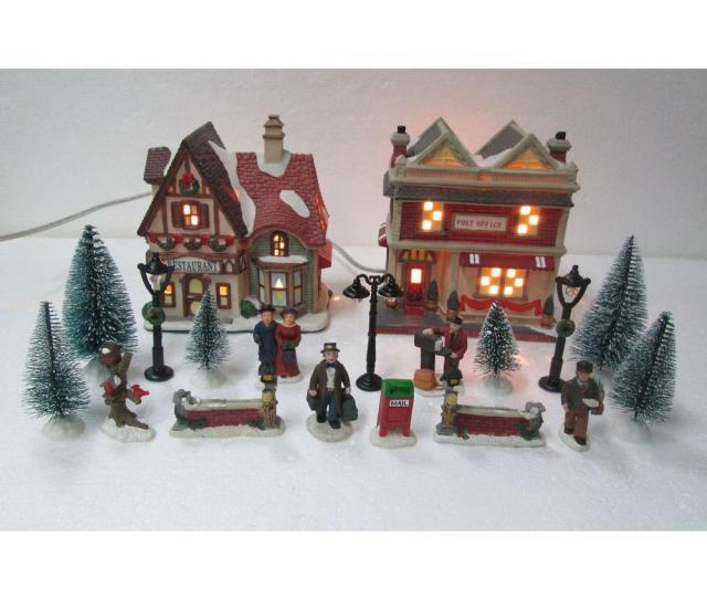 In H Christmas Village Set School