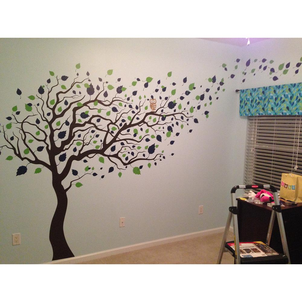Pop Decors 123 In X 83 In Blowing In The Wind Tree Removable Wall Decal PT 0181 V4 The Home