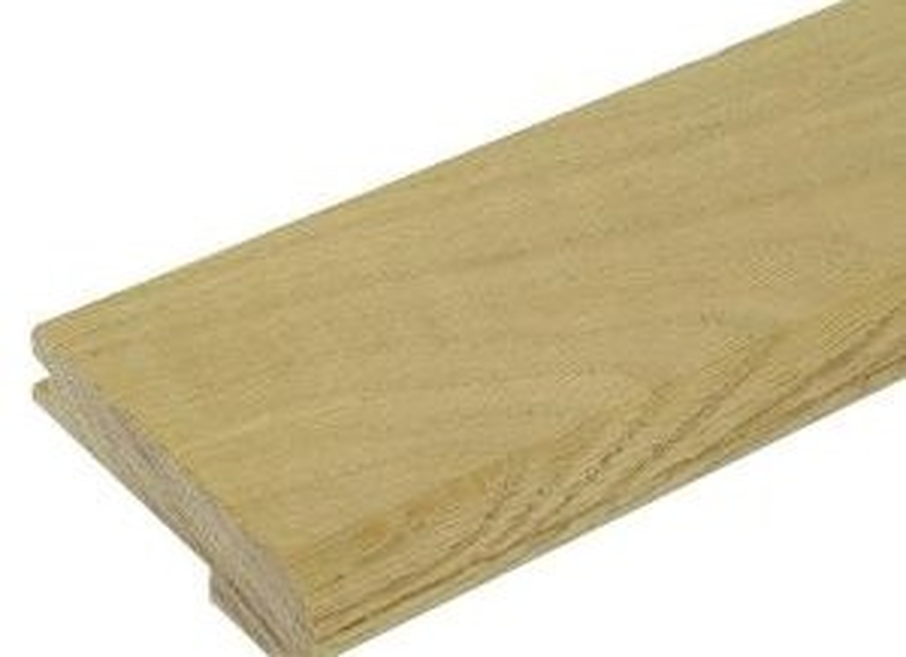Stair Parts 12 In X 5 1 2 In X 1 1 8 In Unfinished Red Oak | White Oak Stair Treads Home Depot | Risers | Red Oak Retread | Flooring | Stair Handrail | Landing Tread