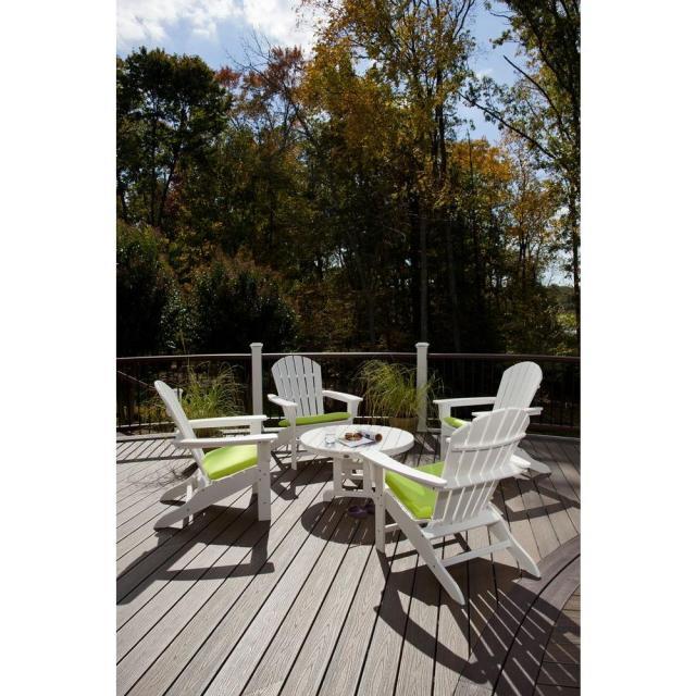 trex outdoor furniture cape cod classic white 5-piece adirondack