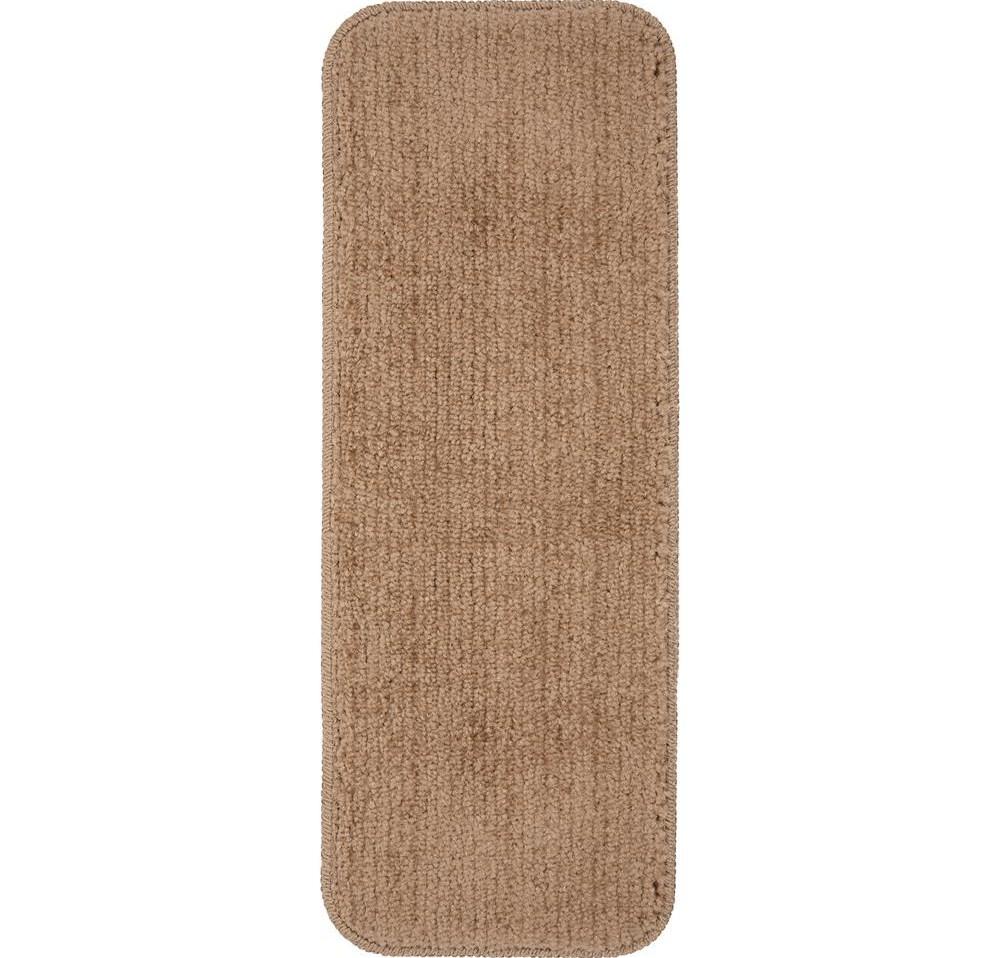 Ottomanson Comfort Collection Camel 9 In X 26 In Rubber Back | Plush Carpet Stair Treads | True Bullnose Carpet | Super Soft | Anti Slip | Wool Carpet | Wall Carpet