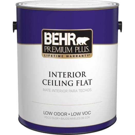 White Flat Ceiling Interior Paint 55801 The