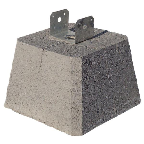 Concrete Pier Block with Metal Bracket 8053112   The Home Depot Concrete Pier Block with Metal Bracket