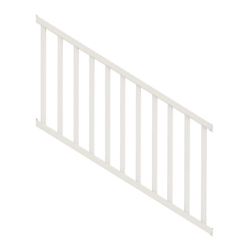 Veranda Select 3 Ft White Vinyl Stair Rail Kit With Square   Vinyl Railing For Steps   Plastic   Leadvision   Exterior   2 Step   Front Door