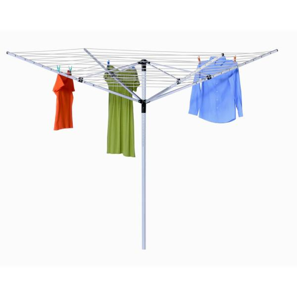 MOEN Heavy Duty Retractable Clothesline in Polished