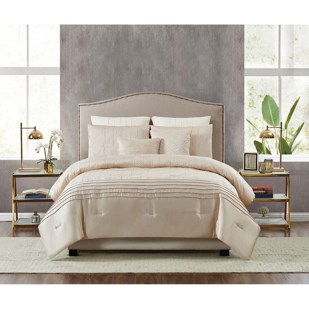 fifth avenue lux noelle 7 piece gold king comforter set cs3211gdk7 1300 the home depot