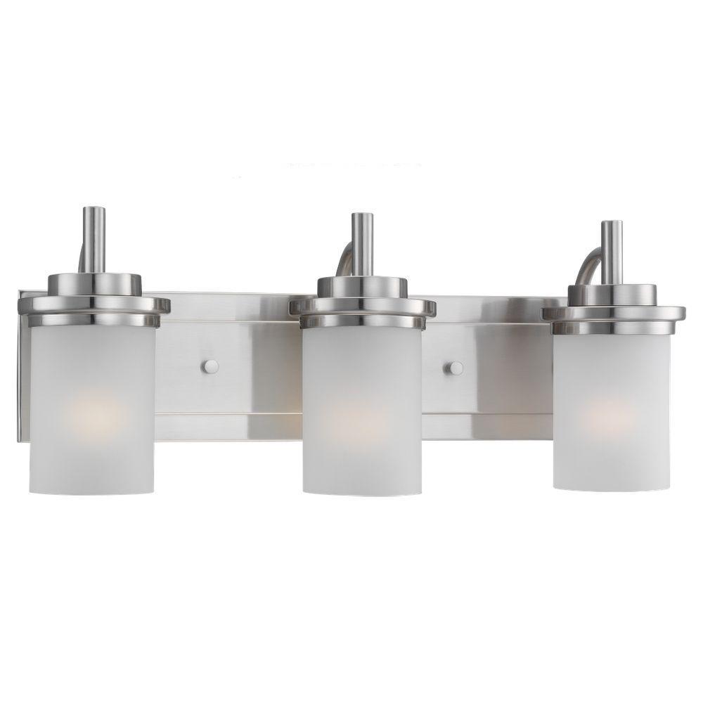 Sea Gull Lighting Winnetka 3-Light Brushed Nickel Vanity ...
