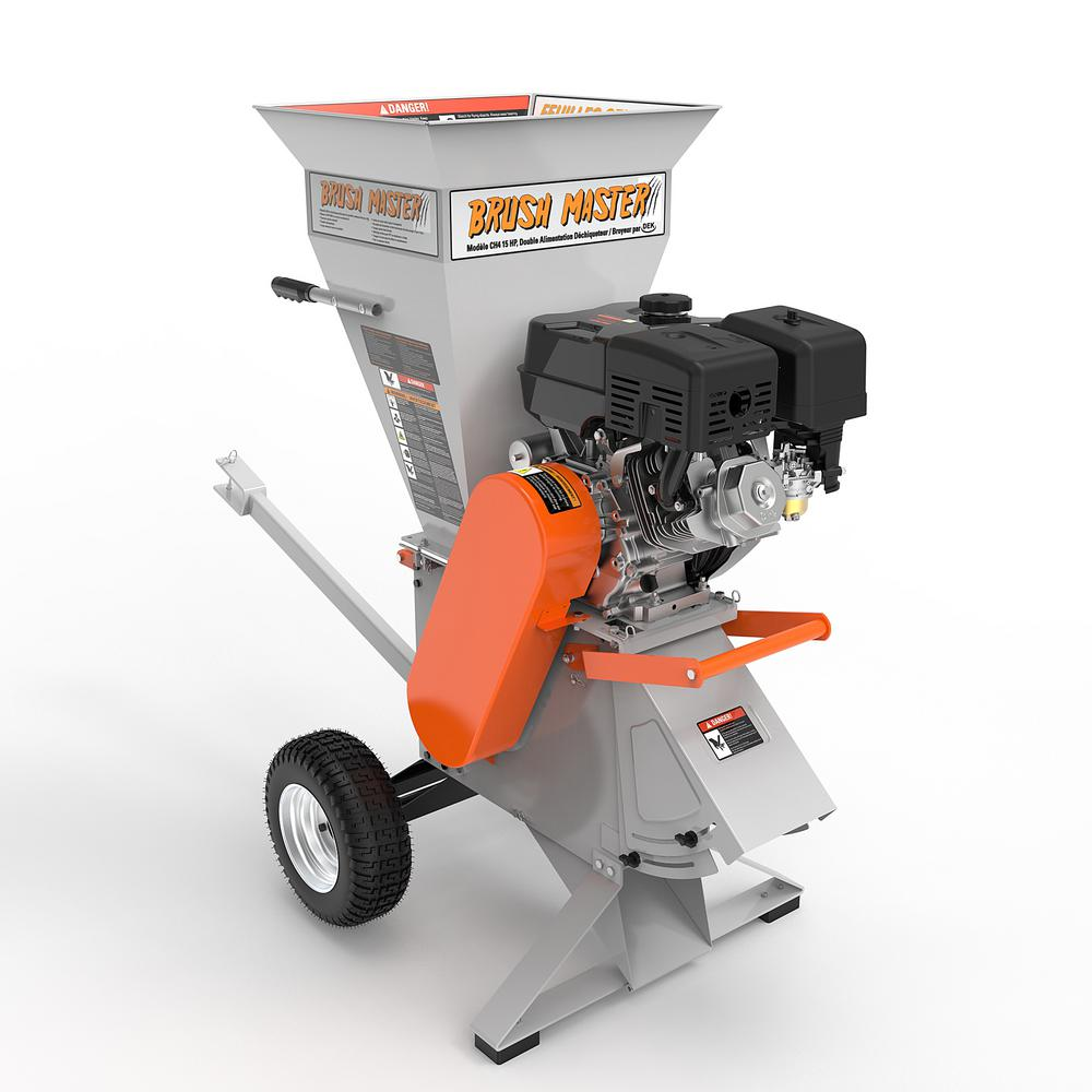 Brush Master 4 In 15 HP 420 Cc Commercial Duty Chipper Shredder CH4M19 The Home Depot