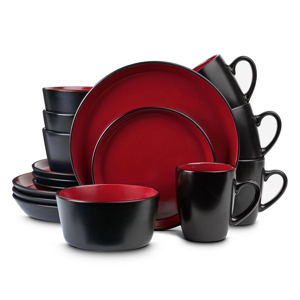 red dinnerware tableware bar