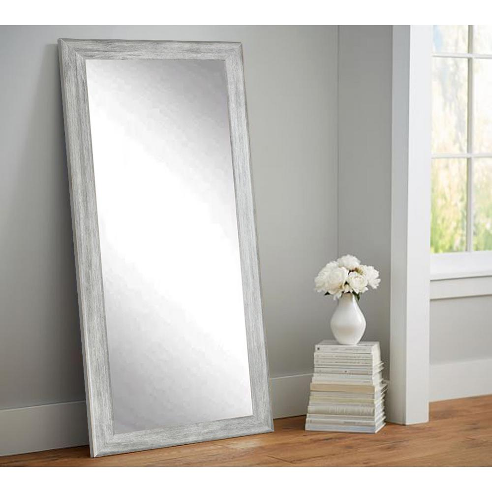 Brandtworks Weathered Gray Full Length Floor Wall Mirror Bm035t The Home Depot