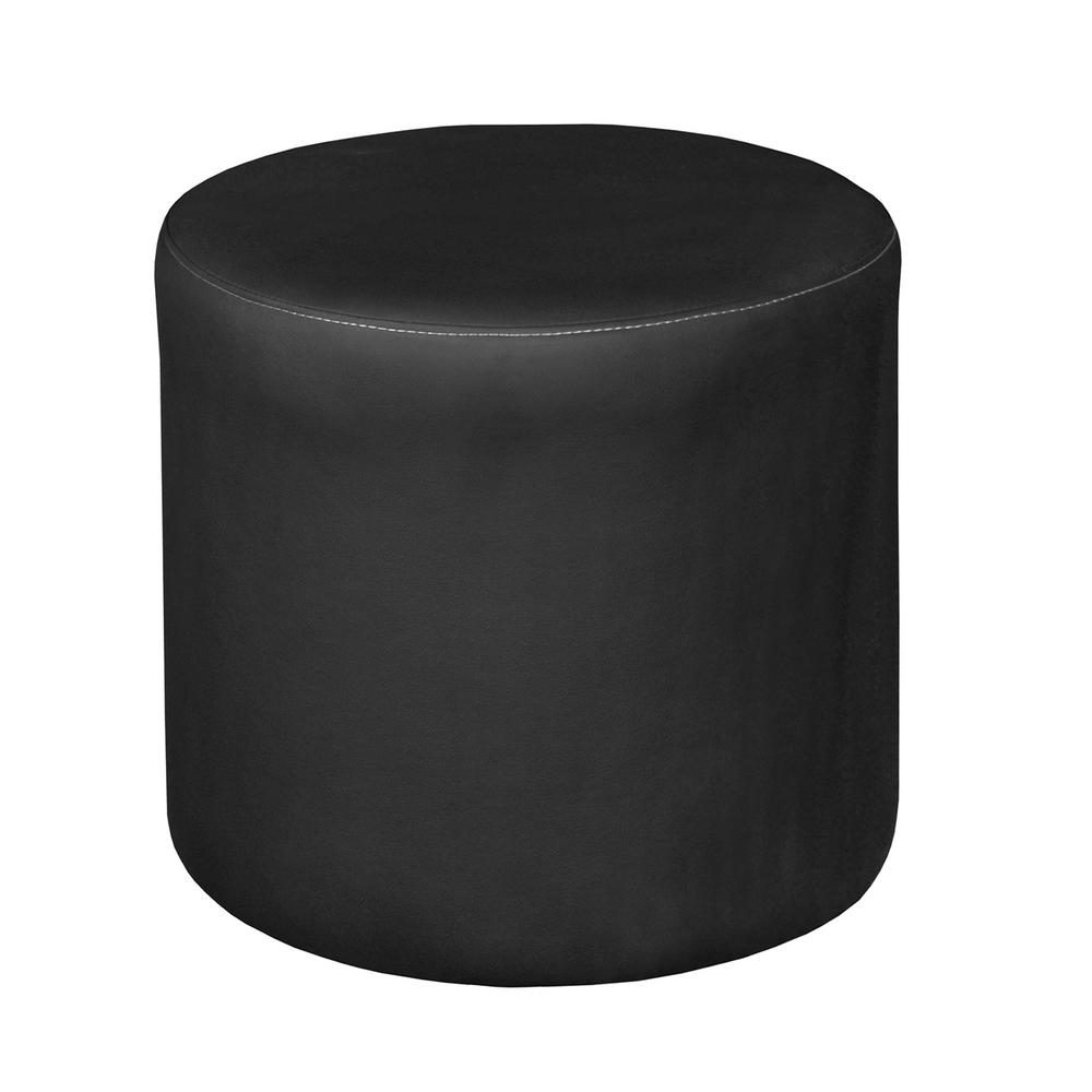 unbranded logan black round ottoman n6262bk the home depot