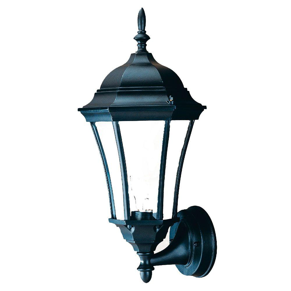 Acclaim Lighting Brynmawr Collection 1-Light Matte Black ... on Outdoor Lighting Fixtures Wall Mounted id=47344