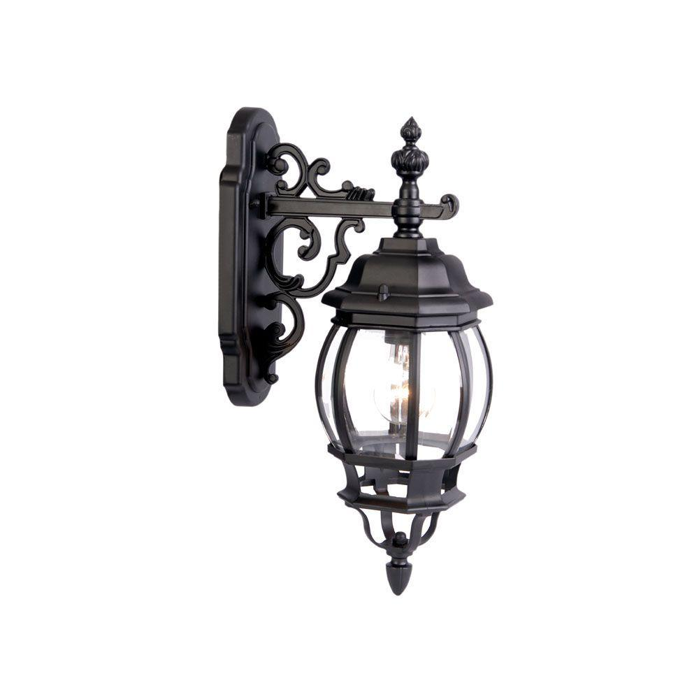 Acclaim Lighting Chateau Collection 1-Light Matte Black ... on Outdoor Lighting Fixtures Wall Mounted id=38093