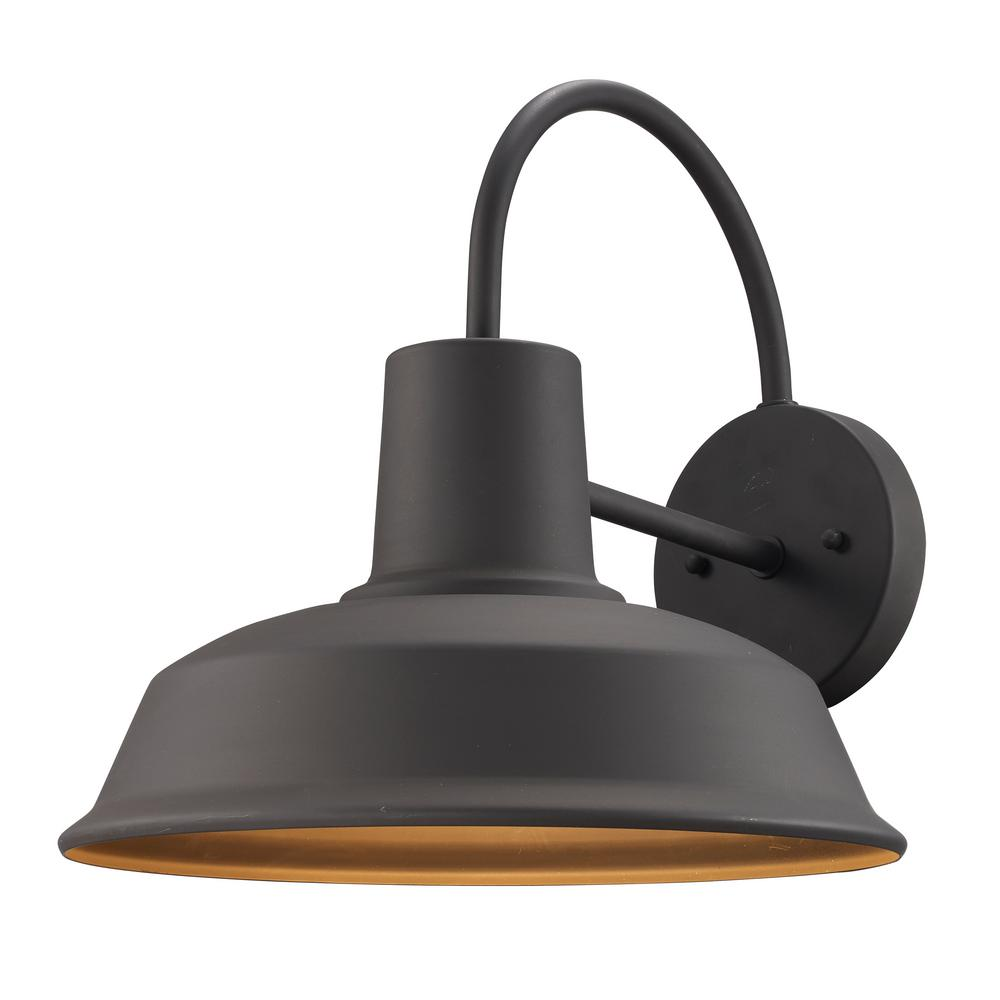 Bel Air Lighting 1-Light Weathered Bronze Outdoor Wall ... on Sconce Outdoor Lighting id=46346