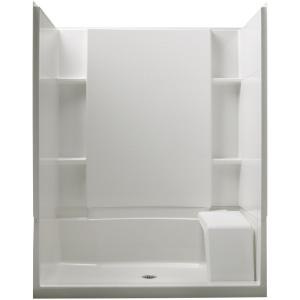 STERLING Accord 36 In X 60 In X 74 12 In Standard Fit Shower Kit With Seat In White 72290100