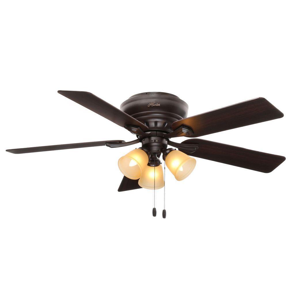 Low profile white ceiling fan with light light gallery light ideas hunter low profile ceiling fan light kit allaboutyouth hunter reinert 52 in indoor low profile white aloadofball Gallery