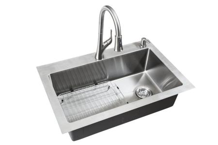 Kitchen Sinks at The Home Depot All in One Dual Mount Small Radius Stainless Steel 33 in  2