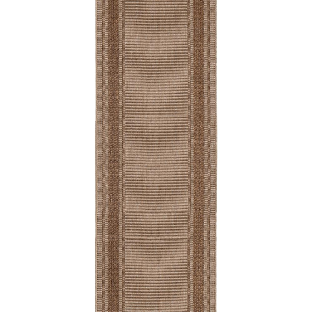 Trafficmaster Brown Border 26 In X Your Choice Length Roll Runner | Stair Runners With Borders | Beige | Unique | Wallpaper | Forest Green | Elegant