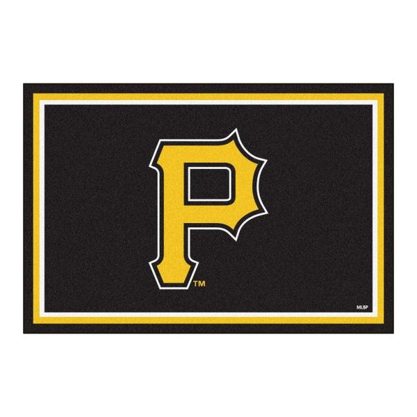 Fanmats Pittsburgh Pirates 5 Ft X 8 Ft Area Rug 7078 The Home Depot
