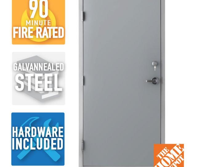 Armor Door  In X  In Fire Rated Gray Right Hand