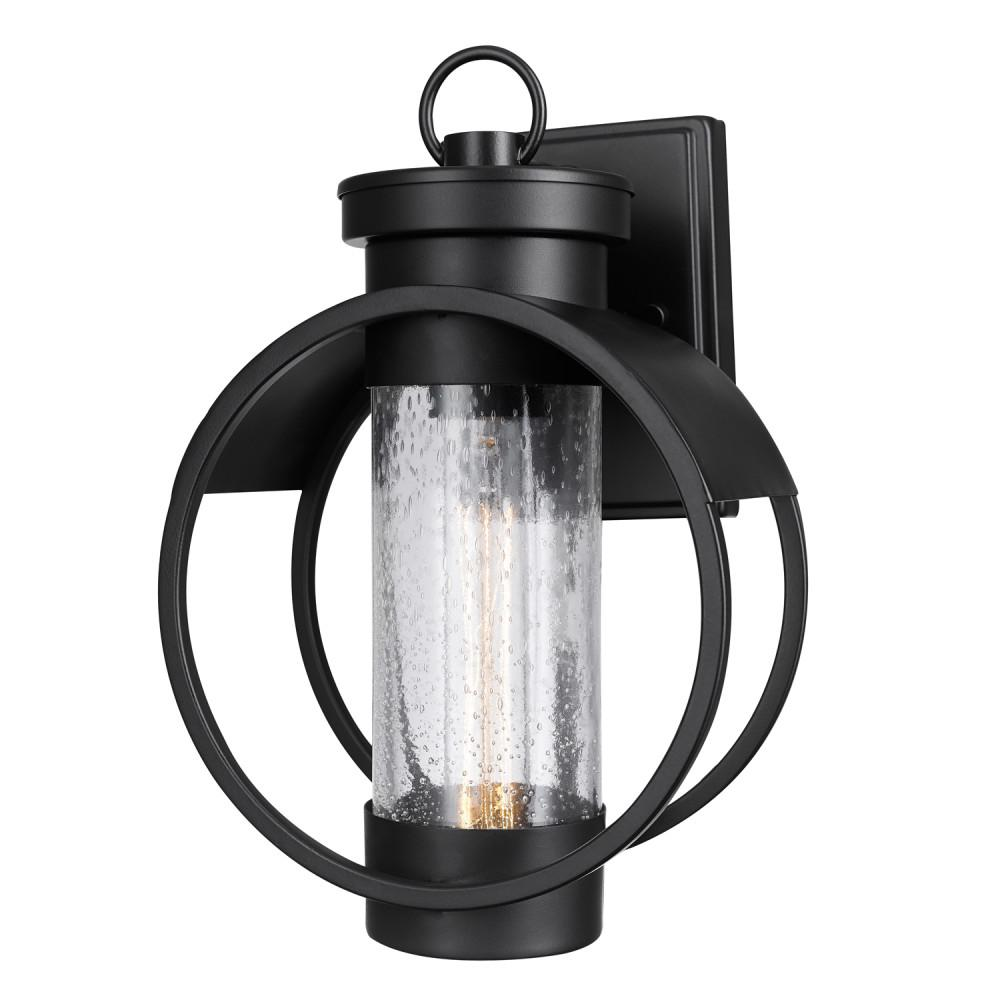 Globe Electric Balvin 1-Light Matte Black Outdoor Wall ... on Sconce Outdoor Lighting id=93625