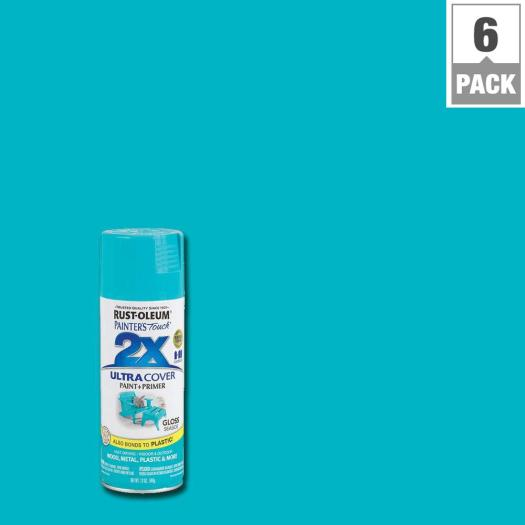 Rust Oleum Painter S Touch 2x 12 Oz Seaside Gloss General Purpose Spray Paint