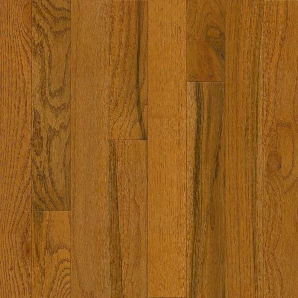 Brown   Solid Hardwood   Hardwood Flooring   The Home Depot Plano Oak Gunstock 3 4 in  Thick x 3 1 4 in