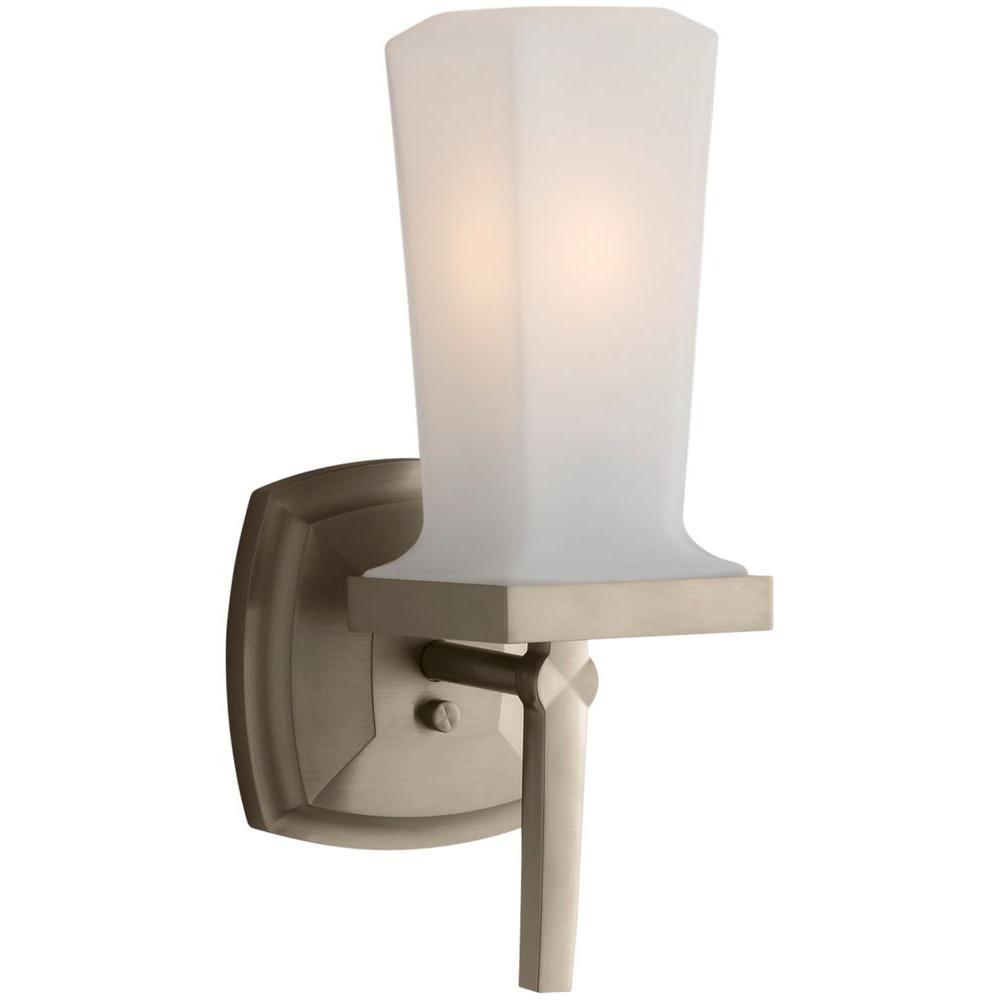 KOHLER Margaux Vibrant Brushed Bronze LED Wall Sconce-K ... on Bathroom Sconce Lights Brushed Bronze id=33824