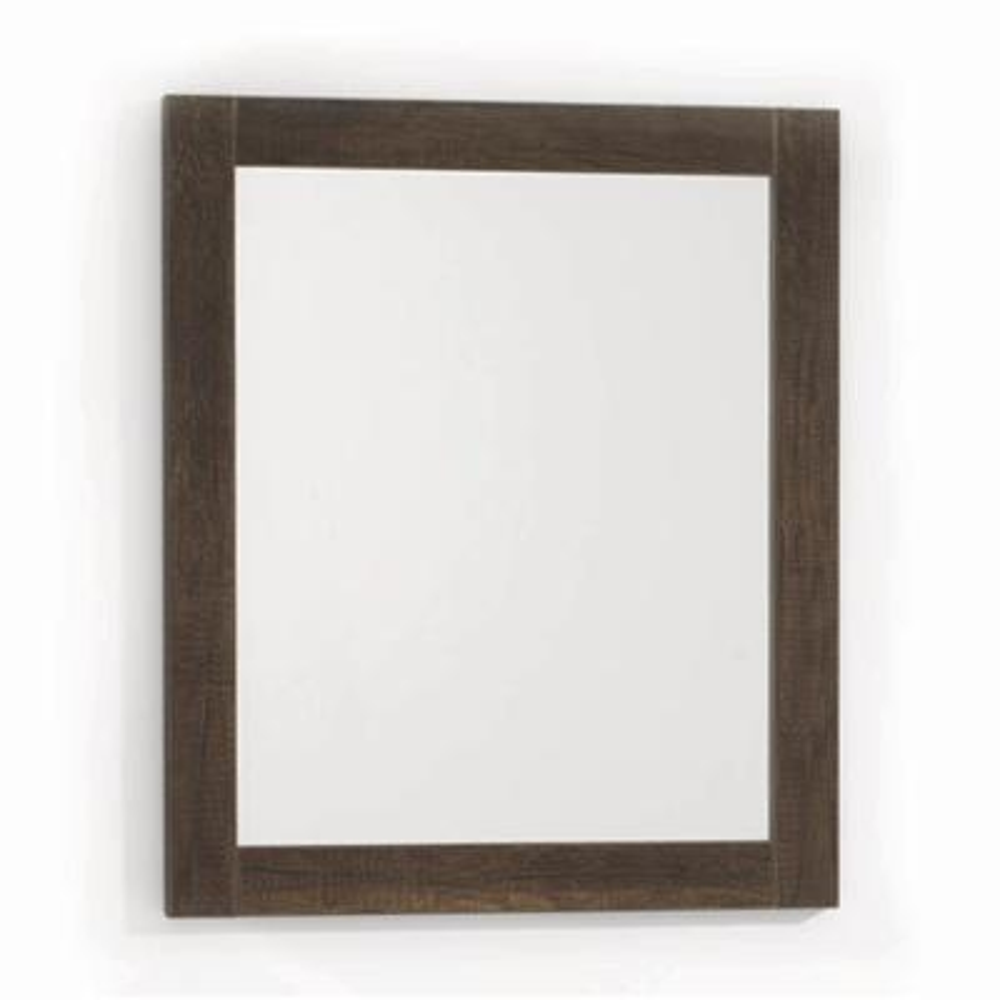 dark brown wood bathroom mirrors