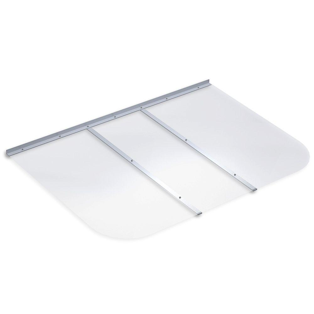 Ultra Protect 53 In X 37 In Rectangular Clear Polycarbonate Window Well Cover Rt536 The Home Depot