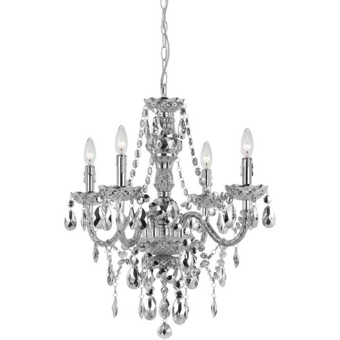 This Review Is From Naples 4 Light Silver Mini Chandelier With Plastic Bead Accents
