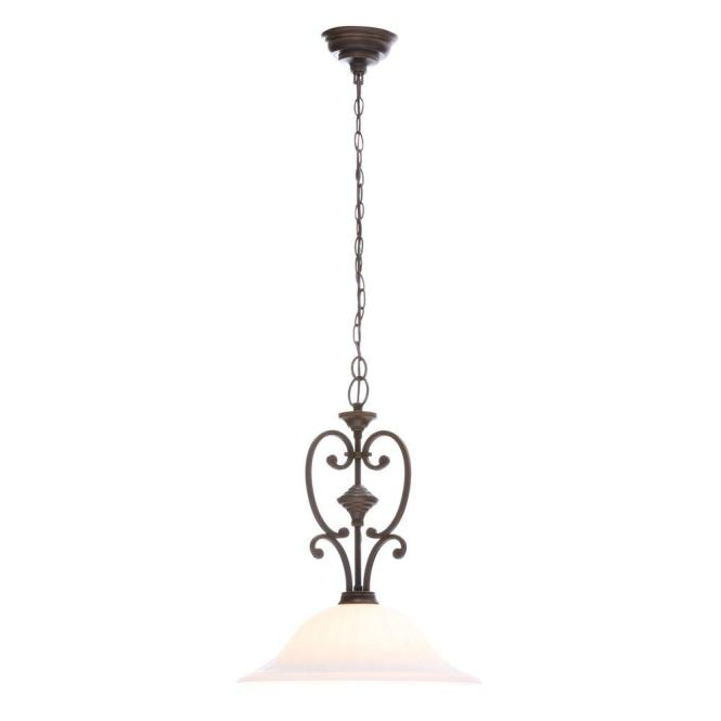 Hampton Bay Somerset Collection 1 Light Bronze Pendant With Bell Shaped Frosted Glass Shade Gex8991a The Home Depot