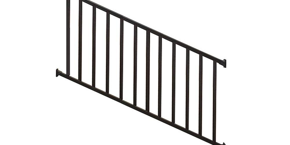 Metal Deck Stair Railings Deck Railings The Home Depot | Metal Handrail Home Depot | Deck Stairs | Outdoor Handrails | Balusters | Porch Railings | Aluminum Railing