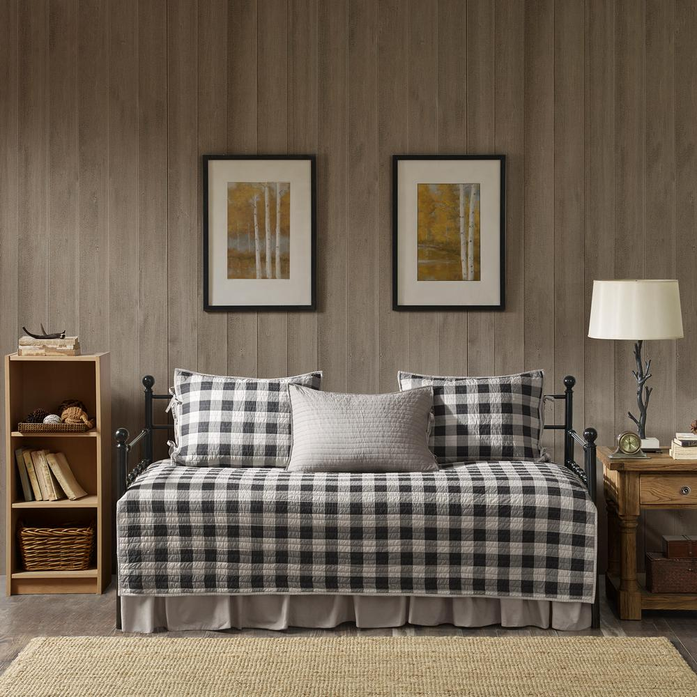 woolrich buffalo 5 piece gray daybed bedding set wr13 2024 the home depot